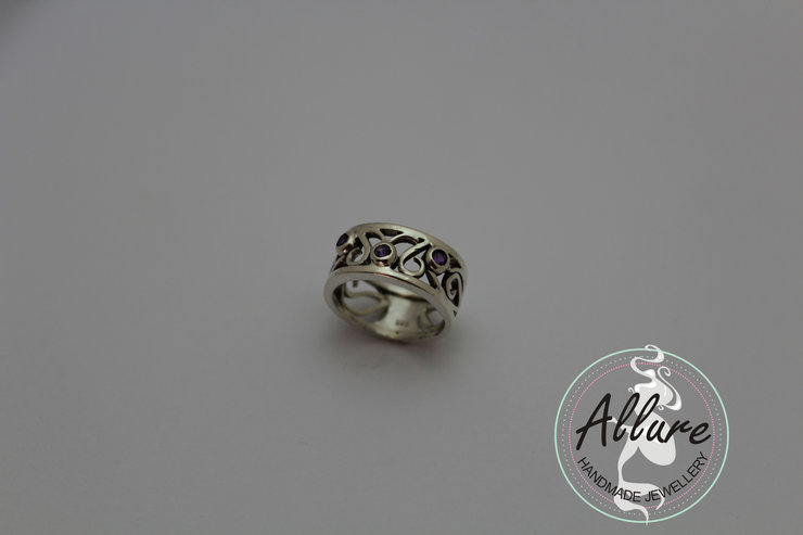 Sterling Silver Filigree Ring by Allure Handmade Jewellery