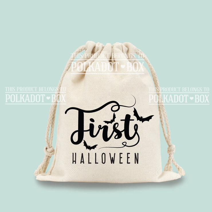 First Halloween Drawstring Bag  by Polkadot Box