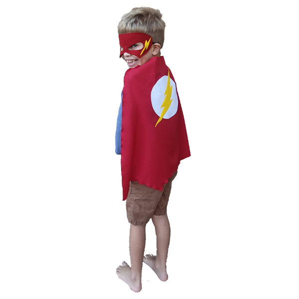Flash cape and mask by Going Dutch In Sa