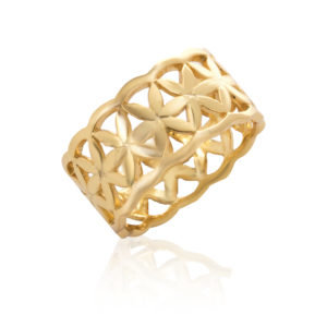 Flower of Life Ring, Gold Plated by Robyn Real Jewels