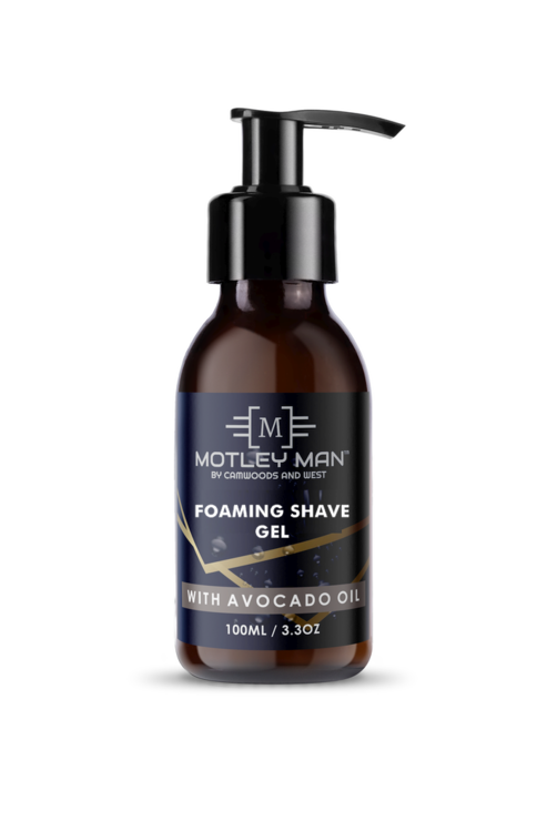 Motley Man Foaming Shave Gel 100ml by Camwoods and West Pty Ltd