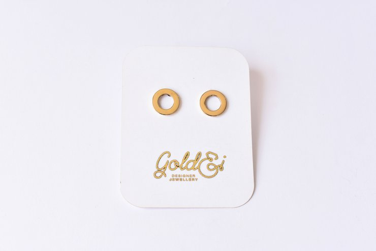 Circle studs by Gold&I