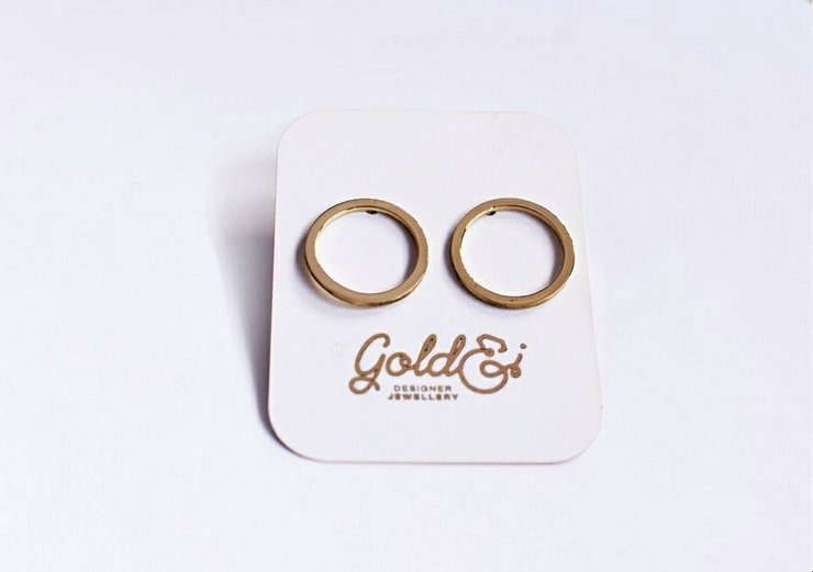 Large Brass circle earrings by Gold&I