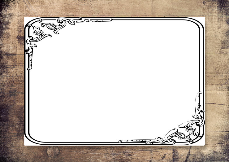 Frame disposable placemats by Sweet Pea Decor