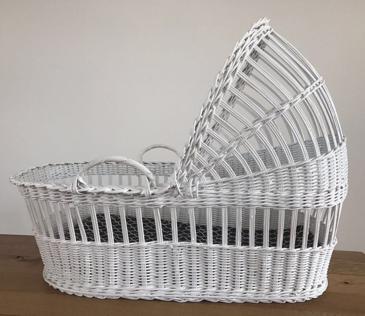 Moses Basket - White by Baby Couture