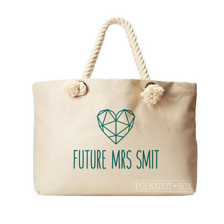 Future Mrs Beach Bag  by Polkadot Box