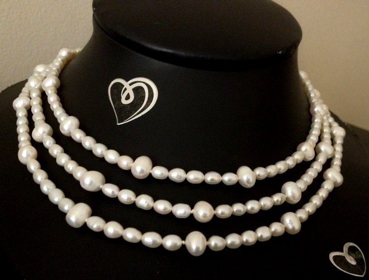 Opera Freshwater Pearl Necklace - FWP014L by AnKa Jewellery