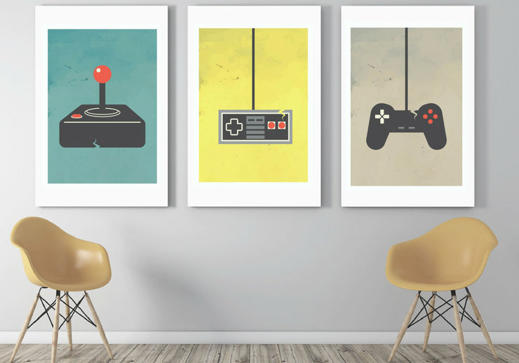 Gamer - set of 3 digital artwork  by Fit&Co