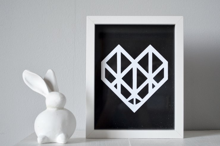 Geometric Heart Cut Out by Heartstrings and Creative Things