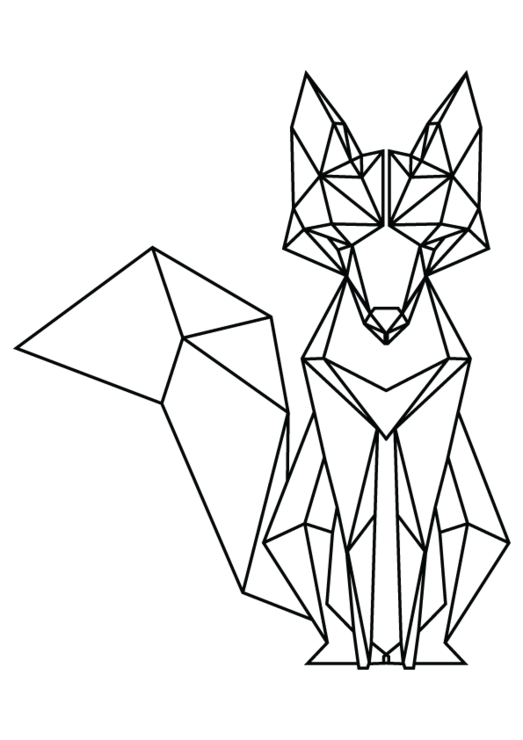 Geometric Line Drawing Artists : Geometric fox hello pretty buy design