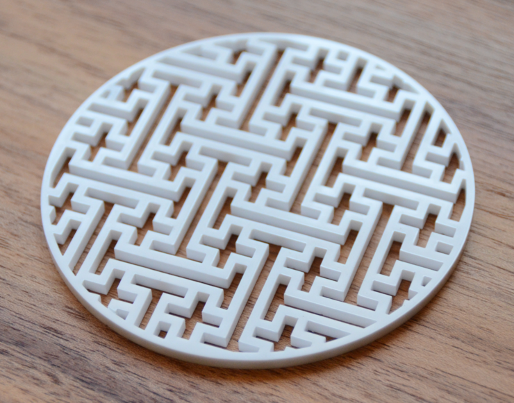 Plus Acrylic Coaster - White by FUFU