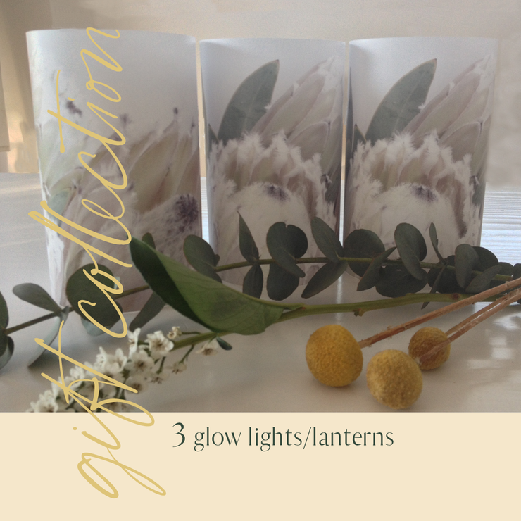 GIFT COLLECTION: 3 x glow lights/lanterns by TableArt