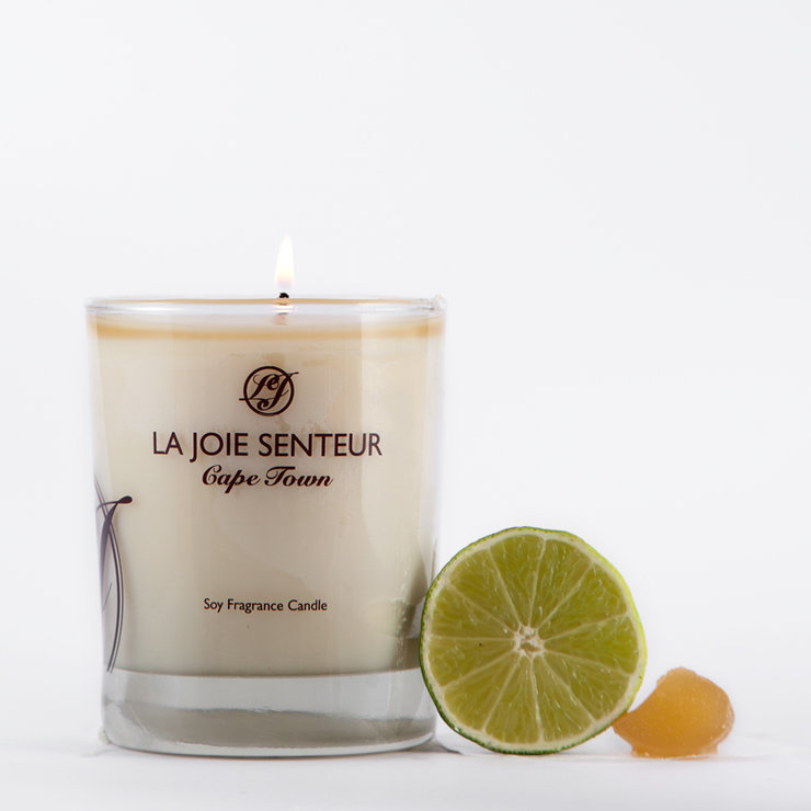 Ginger Lime Soy Fragrance Candle 200g by Royale Afrique du Sud