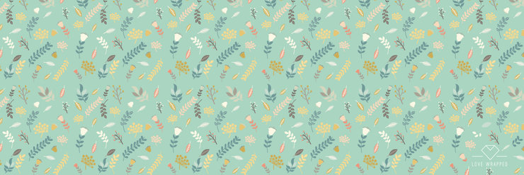 A3 Printed Wrapping Paper (Green) by LOVE WRAPPED