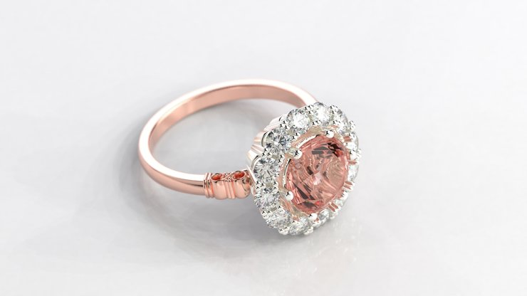 Rose Gold Dipped Sterling Silver Dress Ring Hello Pretty Buy Design