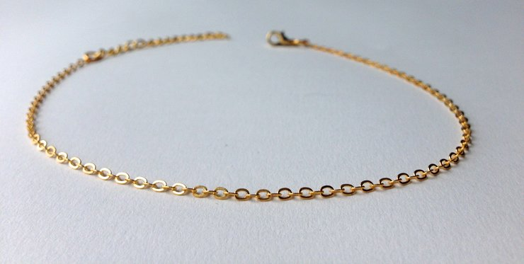Gold Plated Anklet by Lakota Inspirations