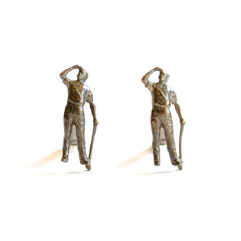 Gilt Golfer Cufflinks by SMITH Jewellery