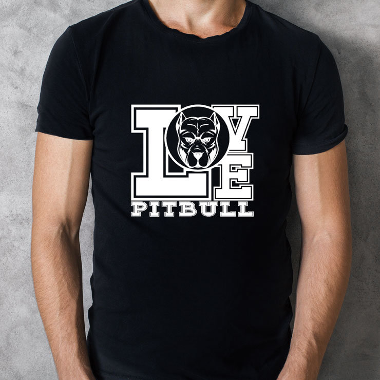 Love Pit Bull T-Shirt by Maverick Design