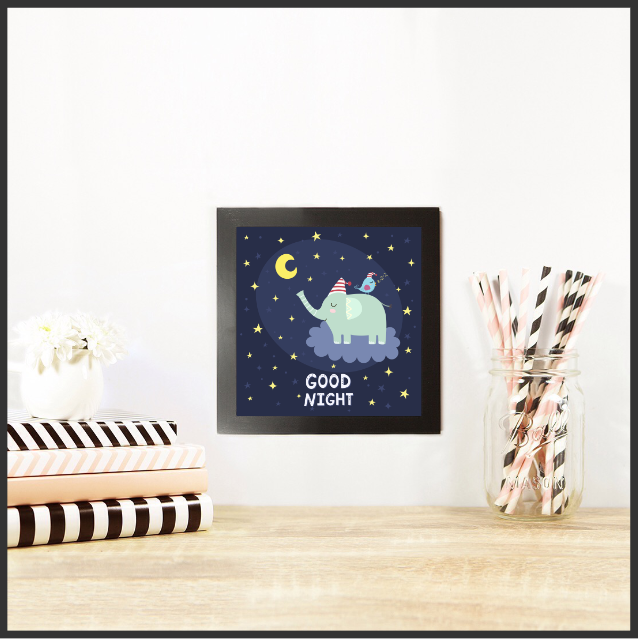 Good Night Set of 3 Posters by The Art of Creativity Studio