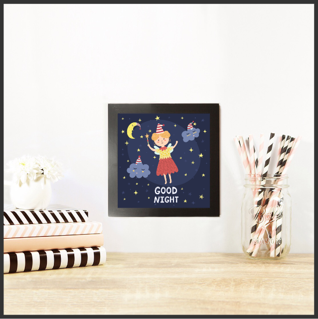 Good Night Set of 3 Wall Art Decor by The Art of Creativity Studio