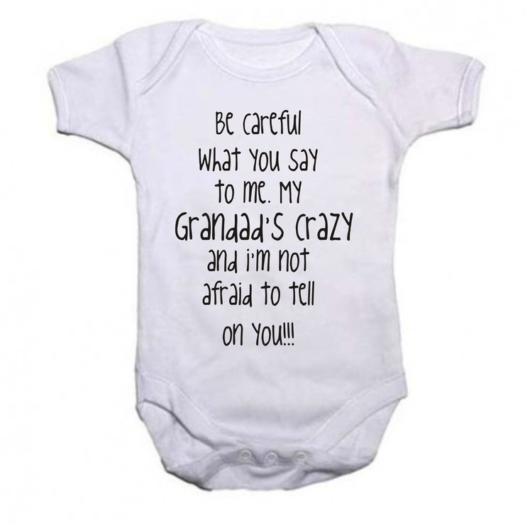 Grandad's Crazy baby grow by Qtees Africa (Pty)Ltd