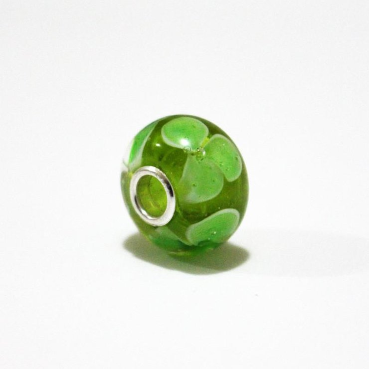 Green Daisy Annabella Bead by Dragonfire Beads Online