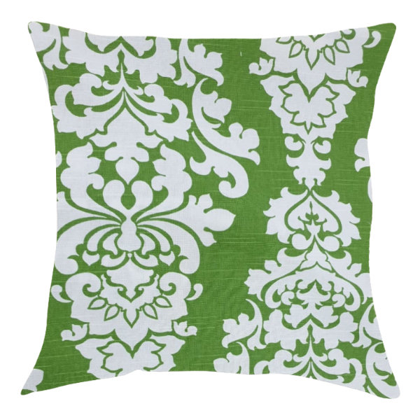 Morgan green/White Reanna Print Pillow/Scatter Cushion 50x50cm (inner included)    by Going Dutch In Sa