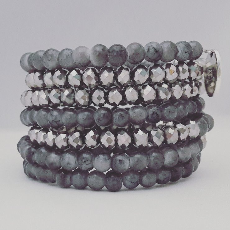 Grey Wire Bracelet by StyLash Accessories