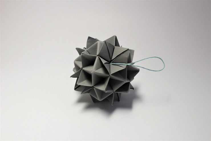 Origami Modular Ball By Two Fold