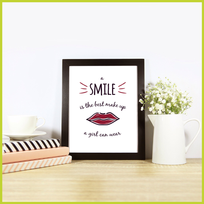 A Smile is the Best Make-up Posters/Prints/Wall Art by The Art of Creativity Studio