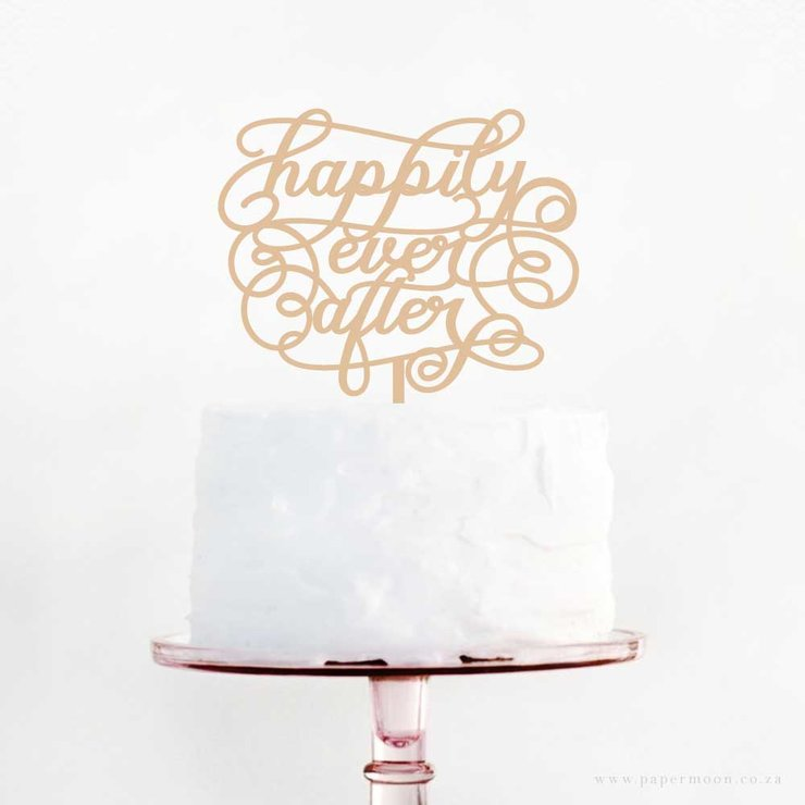Happily Ever After Cake Topper by Papermoon
