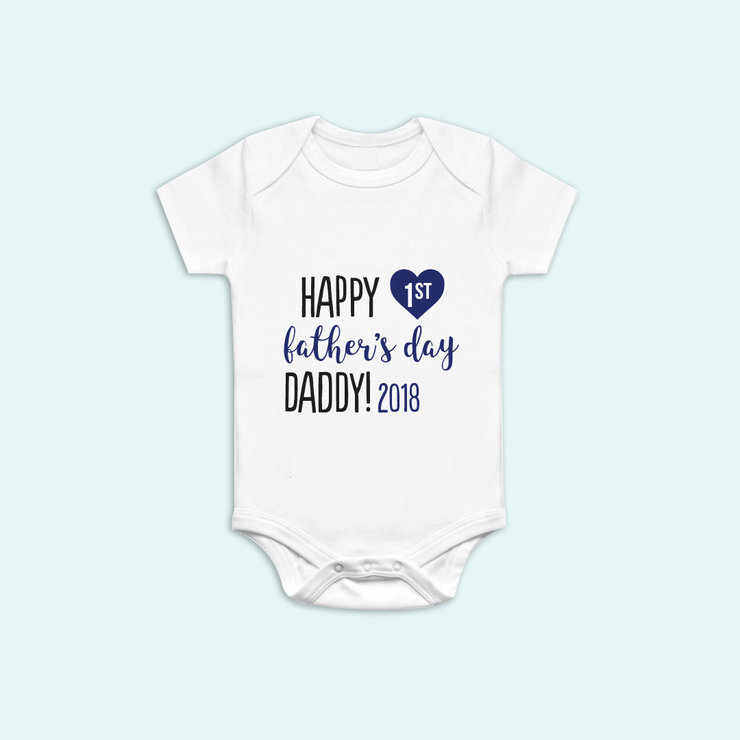 Happy 1st Fathers day Onesie by Polkadot Box