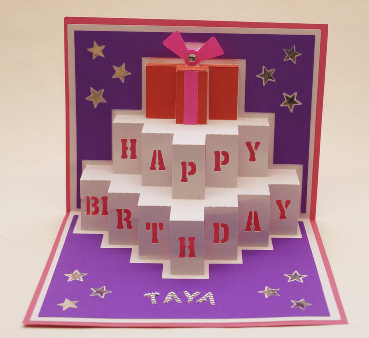 Birthday PopUp Card by Cards by Kerri – Happy Birthday Pop Up Cards