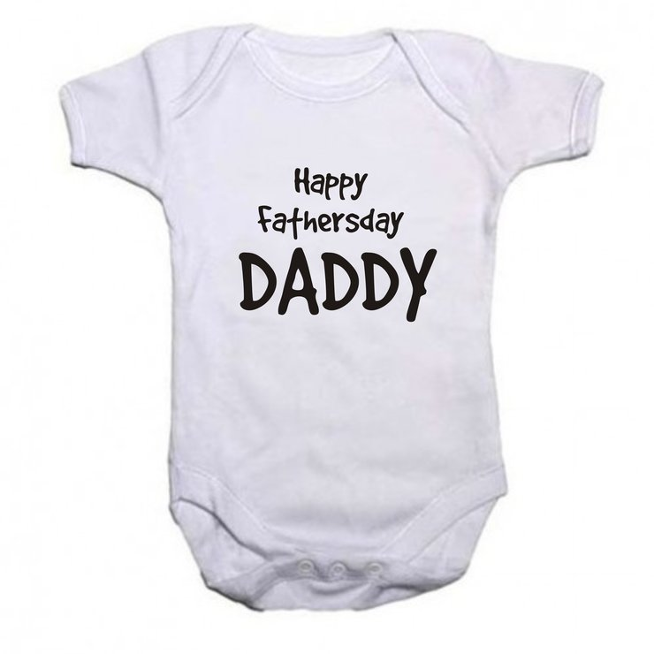 Happy Fathersday Daddy baby grow by Qtees Africa (Pty)Ltd