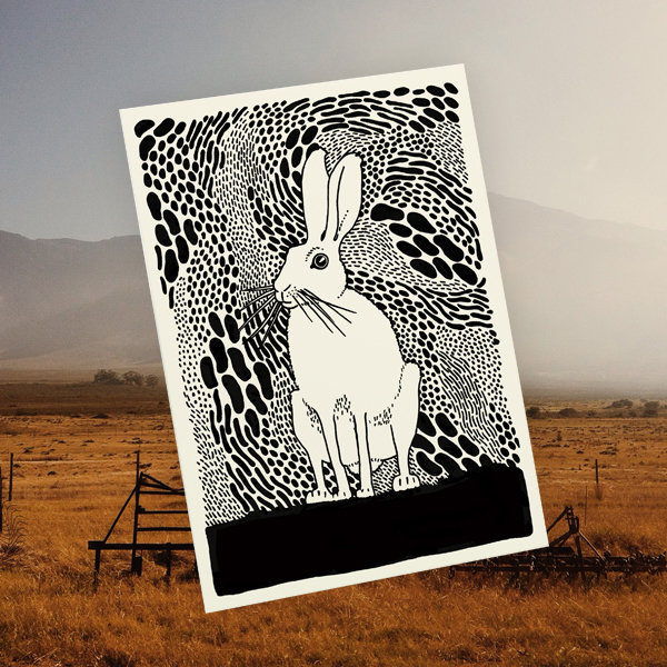 Hare card by Tatjana Buisson Design/ Illustration