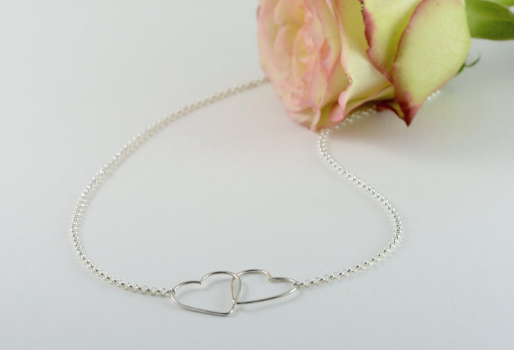 Interlocking heart necklace by Jewellery by Jessica