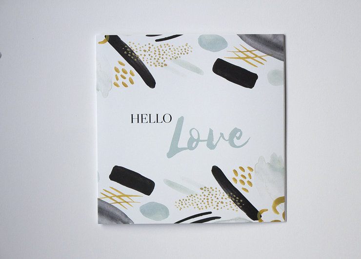 Hello Love Greeting card by Deerly Studio