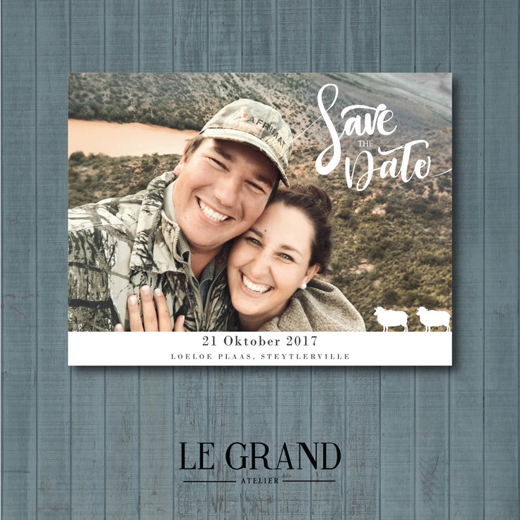 Digital Save The Date - STD – 11 by Le Grand Atelier