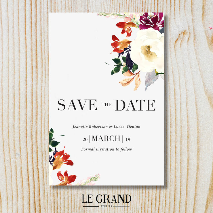 Digital Save The Date - STD – 18 by Le Grand Atelier