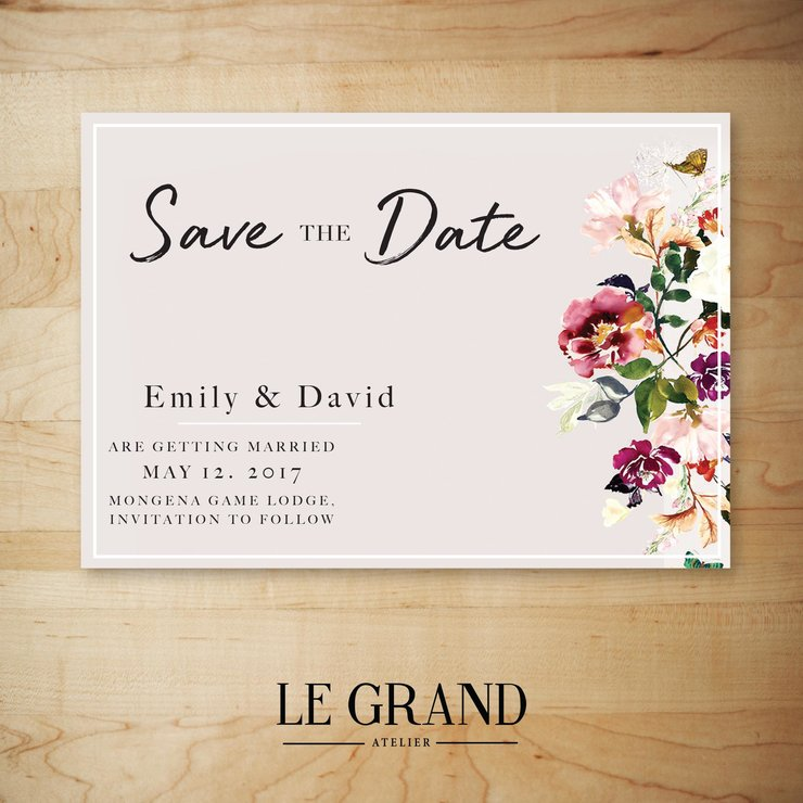 Digital Save The Date - STD – 19 by Le Grand Atelier