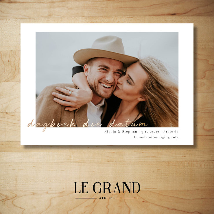 Digital Save The Date - STD – 7 by Le Grand Atelier