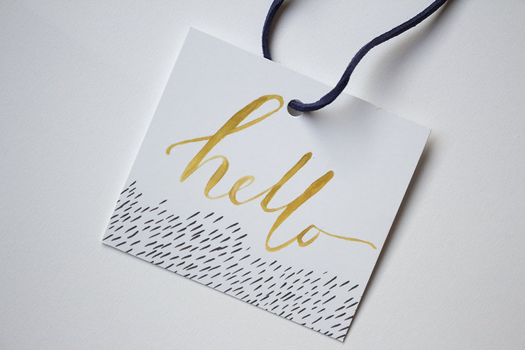 Hello Gift Tags (Set of four) by Deerly Studio