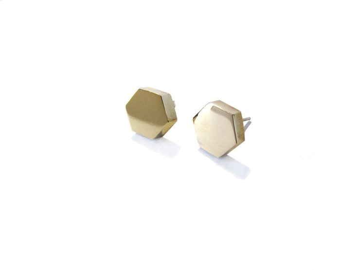 Hex Studs by Meraki Jewellery Design