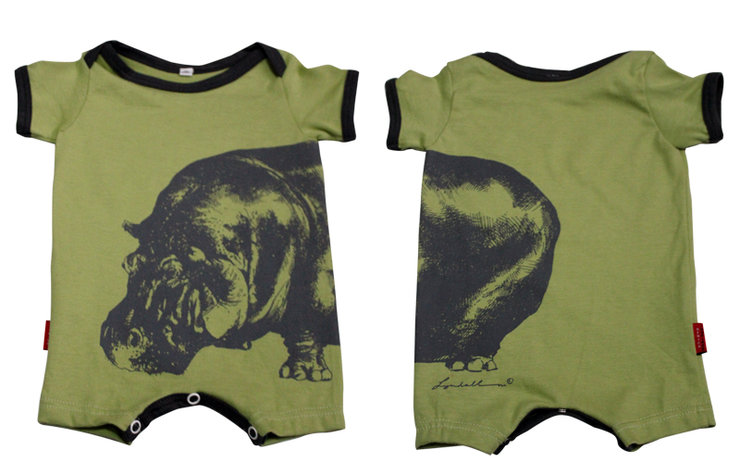 Africa Inspired HIPPO babygrow by Africa Inspired