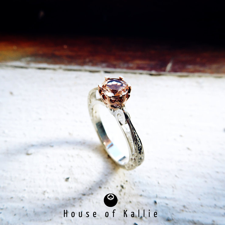 Morgantite Solitare Ring by House of Kallie