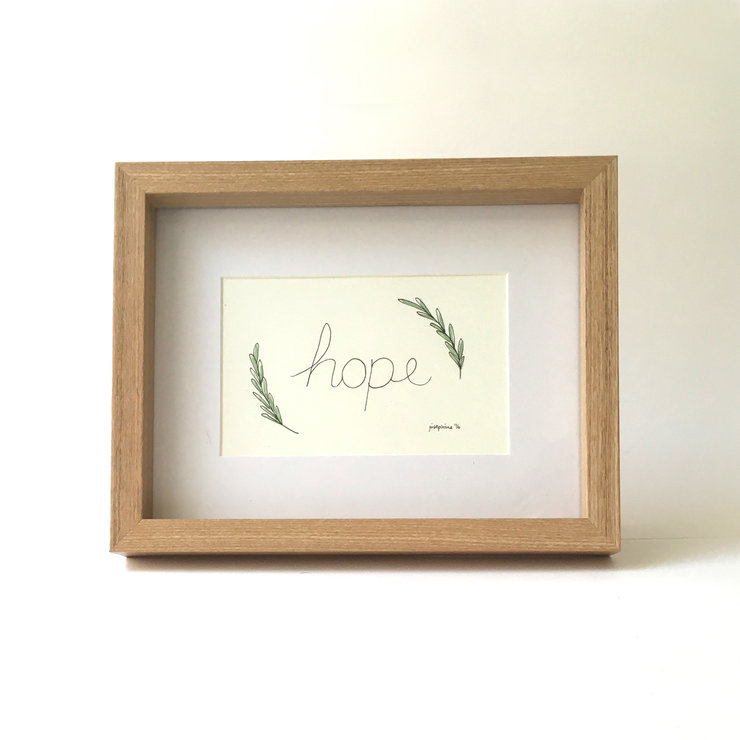 Hope (Framed print) by Josephine Draws