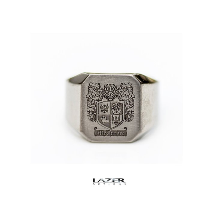 Titanium Signet ring by Lazer Options