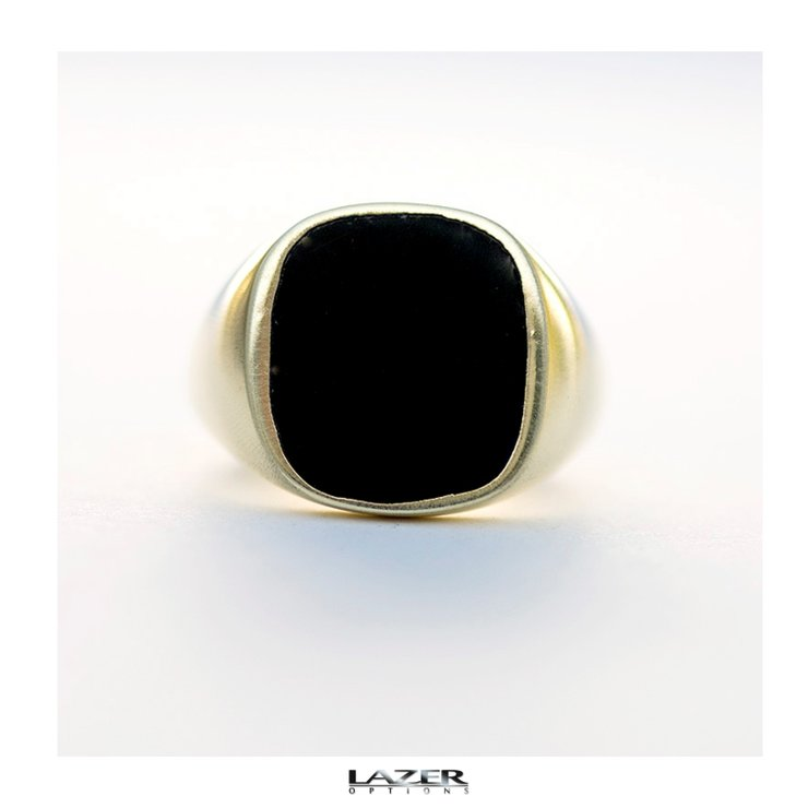 Black Signet Ring by Lazer Options