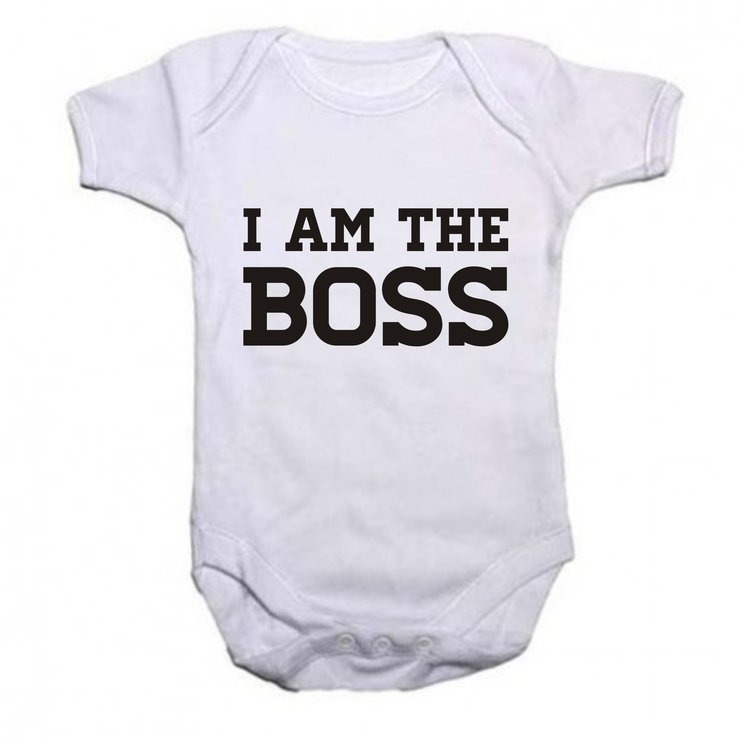 I am the Boss baby grow by Qtees Africa (Pty)Ltd