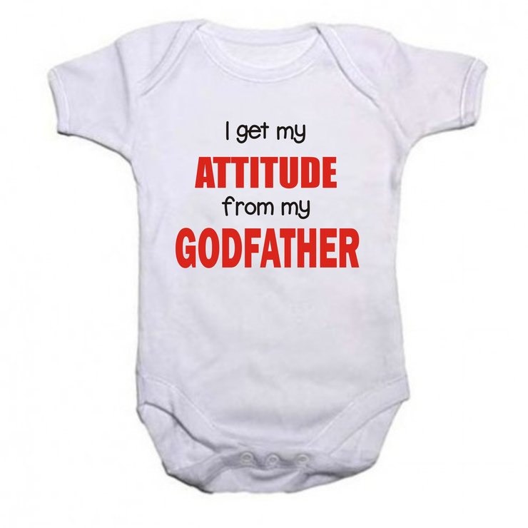 I get my attitude from my Godfather baby grow by Qtees Africa (Pty)Ltd